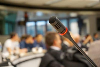 VSES members conference presentation microphone